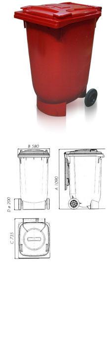 Контейнеры для мусора 240 л